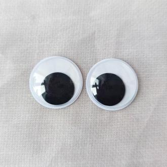 Подвижные глазки для игрушек Ø30 мм. 1 пара