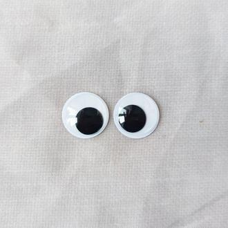 Подвижные глазки для игрушек Ø25 мм. 1 пара
