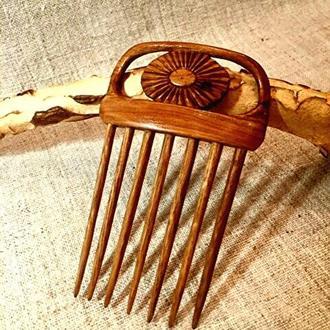 Гребень для волос деревянный,7зубов.
