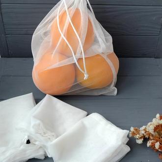 Экомешочки, набор эко мешочков для покупок, фруктовки, мішечки, торбинки zero weste