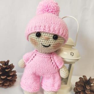 Вязаная игрушка кукла ПУПС Йо-Йо