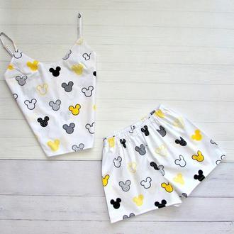 Пижама Хлопок, женский хлопковый комплект, ручная работа
