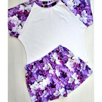 Трикотажный комплект, пижама трикотаж, женская домашняя одежда