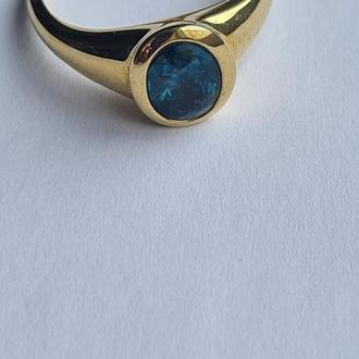 Золоте кольцо 585 проби з кианитом
