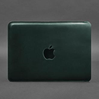 Кожаный чехол для MacBook Air/Pro 13'' Зеленый
