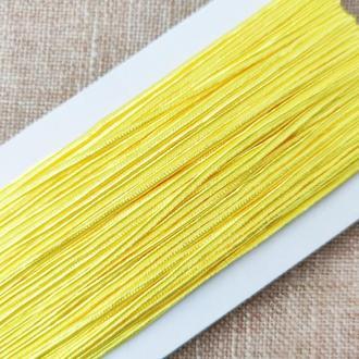 Шнур сутажный желтый, 3мм (1м/п)