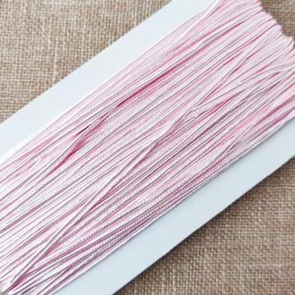 Шнур сутажный светло-розовый, 3мм (1м/п)