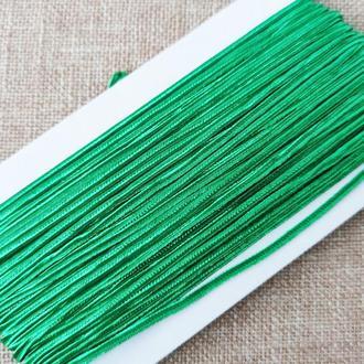Шнур сутажный зеленый, 3мм (1м/п)
