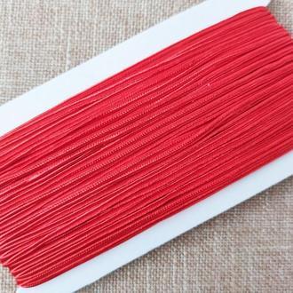 Шнур сутажный красный, 3мм . (1 м/п )