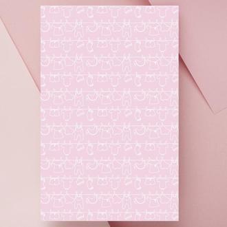 Дизайнерская бумага односторонняя А4 baby_girl-10