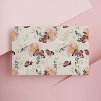 Дизайнерская бумага односторонняя А4 butterfly 01