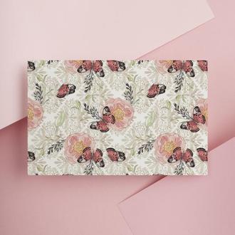 Дизайнерская бумага односторонняя А4 butterfly 09