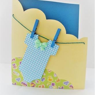 Листівка на день народження дитини (хлопчика)