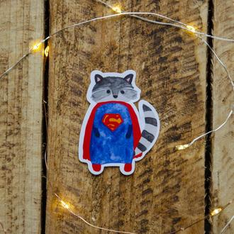 """Фигурная наклейка """"Суперменот"""""""