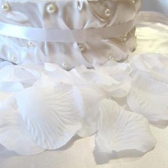 Штучні пелюстки троянд білі (арт. RP-1-600)
