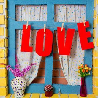 """Гірлянда """"LOVE"""" на прищіпках (арт. F-111)"""