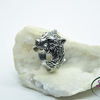 Кольцо Волк. Мужское кольцо Волк