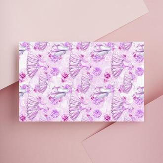 Дизайнерская бумага односторонняя А4 Ballet_Shoes 14