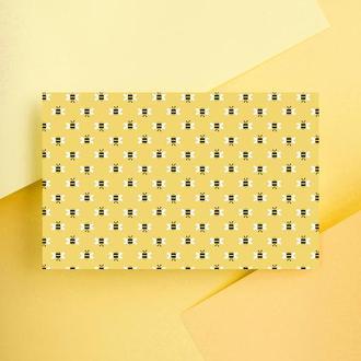 Дизайнерская бумага односторонняя А4 Bumble bee 12