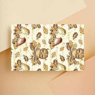 Дизайнерская бумага односторонняя А4 Autumn_Freebie 03