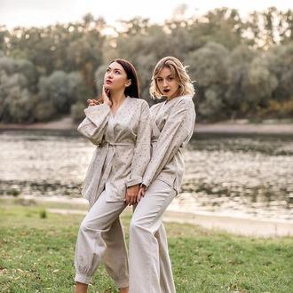 Женская оригинально красивая пижама natural