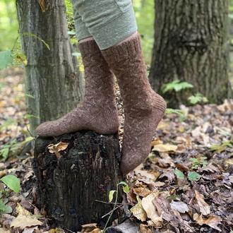 Шерстяные женские вязаные носки