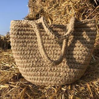 Сумка из джута. Корзинка-сумка.