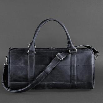 Мужская кожаная сумка Harper темно-синяя Crazy Horse