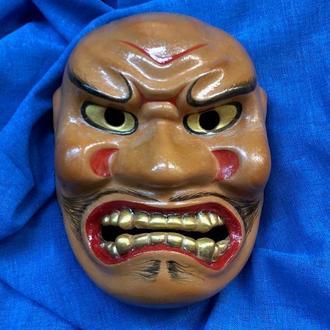 Noh Mask SHIKAMI, Керамическая японская маска SHIKAMI, расписанная вручную