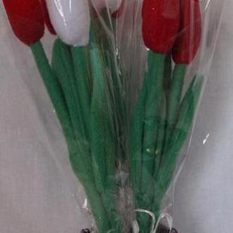 Букет тюльпанов из флиса