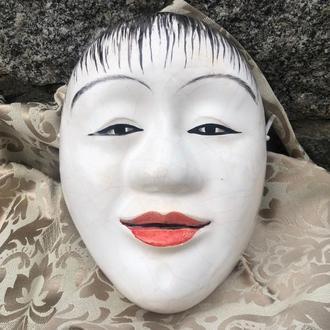 Noh Mask DOJI, Керамическая японская маска DOJI, расписанная вручную