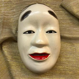 Noh Mask SYAKUMI, Керамическая японская маска SYAKUMI, расписанная вручную
