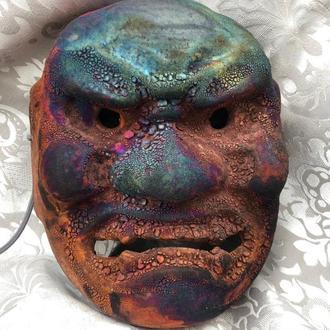 Noh Mask SHIKAMI, Керамическая японская маска SHIKAMI