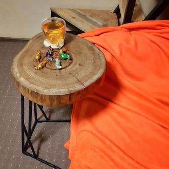 Прикроватный/кофейный/журнальный стол из среза дуба в стиле лофт