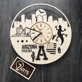 Дизайнерские часы на стену «Финикс, Аризона»