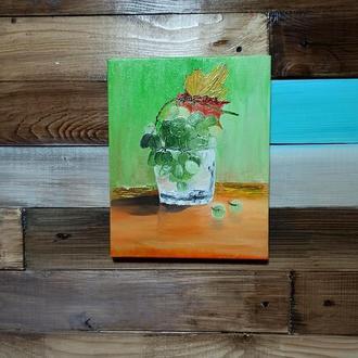 Картина маслом «Гроздь винограда», 24х30