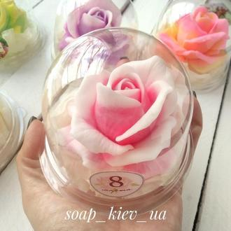 Мыло роза в куполе.Подарки на 8 Марта