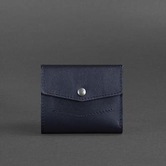 Кожаный кошелек 2.1 темно-синий Краст