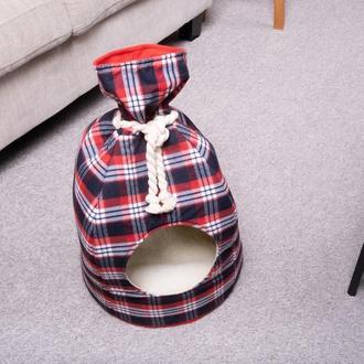 Лежак - домик для собак и котов Pets Lounge Gift, без меха