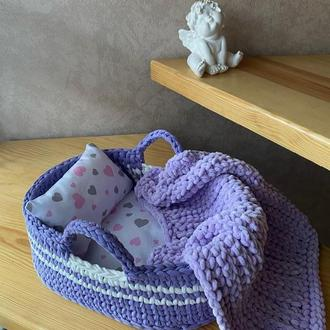 Люлька для куклы . Кроватка для куклы . Переноска для куклы