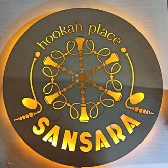 Вывеска с подсветкой, интерьерная вывеска для заведения, логотип с подсветкой, вывеска-логотип