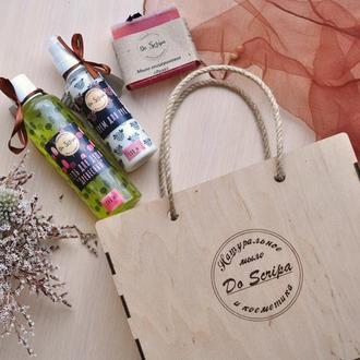 Подарочная Сумка-ВOX Гель для душа Крем для рук Натуральное мыло