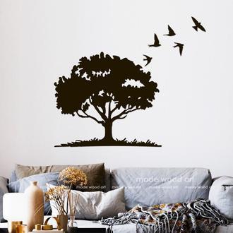 Деревянная картина-панно