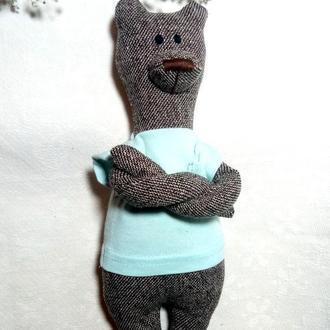 """Игровая и интерьерная игрушка """"Мишка текстильный"""""""