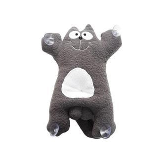 Мягкая игрушка Кот  Саймон темно серый 27 см