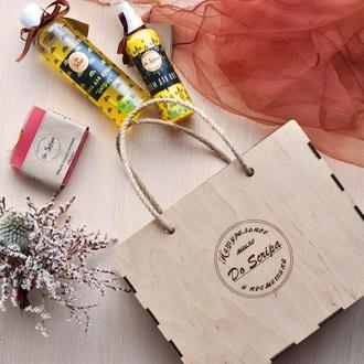 Подарункова Сумка-BOX Крем для ніг Гель для душу Натуральне мило Do scripa