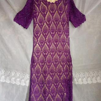 Платье женское вечернее крючком