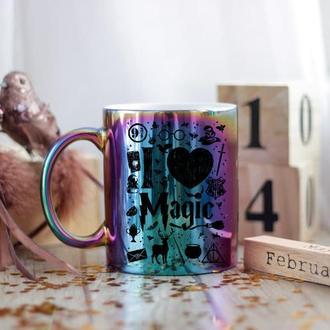 Разноцветная чашка Гарри Поттер
