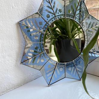 Круглое подвесное зеркало