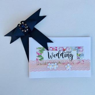 """Открытка свадебная """"Our Wedding"""""""